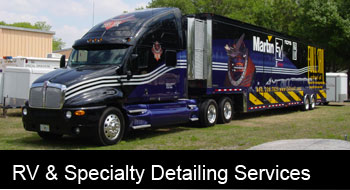 Specializing in RVs, rigs, boats, planes etc... We are the best choice for these big detailing jobs.